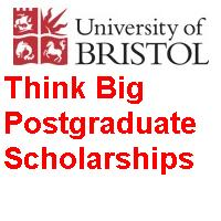 University of Bristol Think Big Postgraduate Scholarships