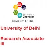 University of Delhi DEPARTMENT OF CHEMISTRY Research Associate-III