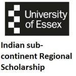 University of Essex Indian sub-continent Regional Scholarship (Undergraduate)