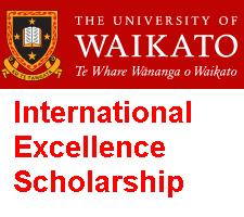 University of Waikato International Excellence Scholarship