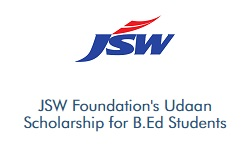 Vidyasaarathi JSW Foundations Udaan Scholarship for B.Ed Students