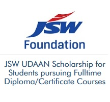 JSW UDAAN Scholarship for Fulltime Diploma And Certificate Courses