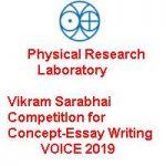 Vikram Sarabhai CompetitIon for Concept-Essay Writing