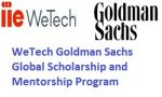 WeTech Goldman Sachs Global Scholarship and Mentorship Program 2018-19