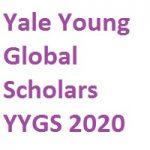 Yale Young Global Scholars-YYGS 2020